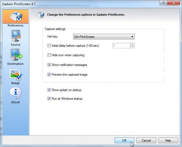 Capture screen with Gadwin Printscreen | freeprogram